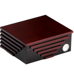 Humidor black/cherry Stripes fr>40Zigarren